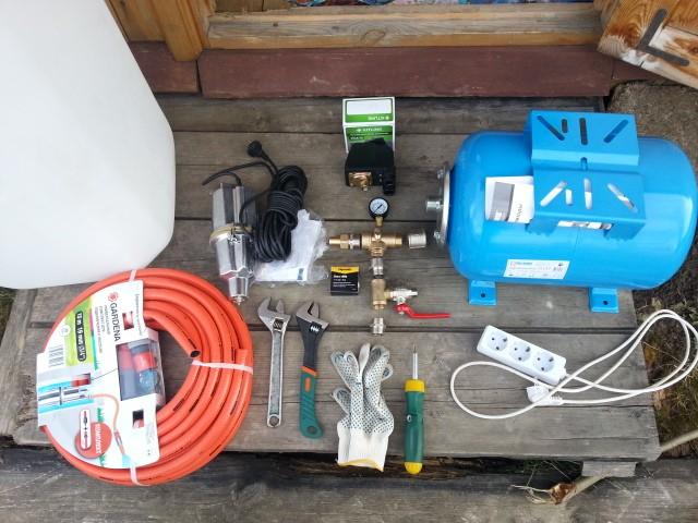 Набор инструментов для подключения гидроаккумулятора