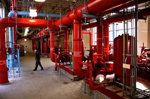 Зал насосной станции пожаротушения