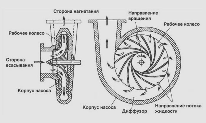 Принцип действия центробежного насоса