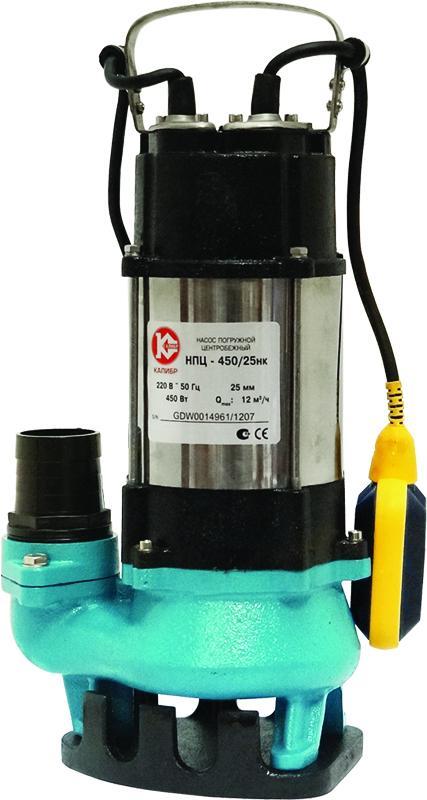 Погружной дренажный насос Калибр НПЦ-450/25НК для водозабора из резервуаров