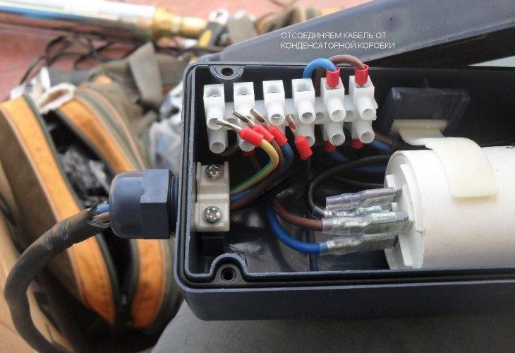 Подключение кабеля к погружному насосу