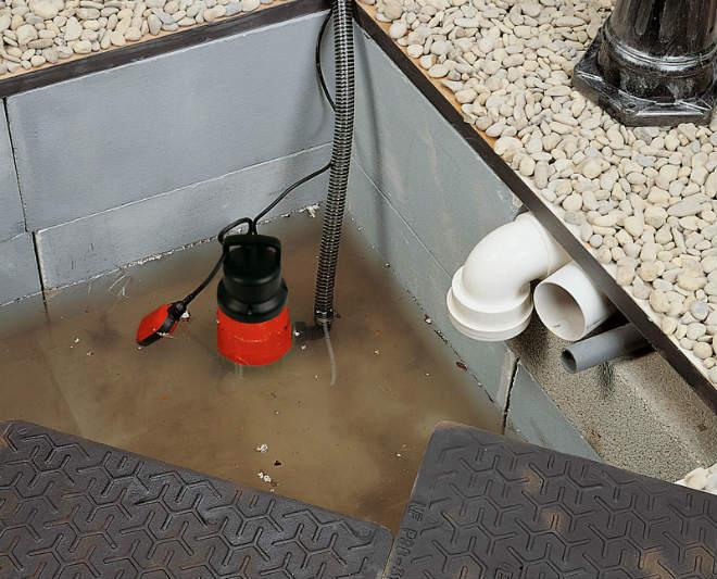 Откачка грязной воды из подвала