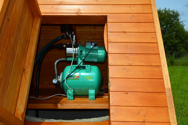 Подача воды из колодца с помощью насосной станции