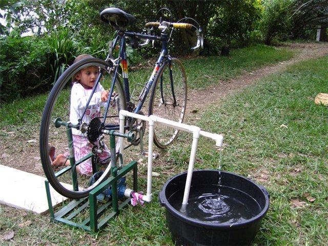 Самодельный ручной насос быстрой закачки из велосипеда