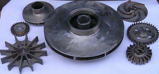 Виды рабочих колес насосов