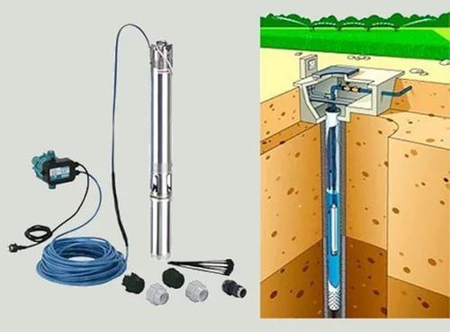 Схема установки скважинного насоса
