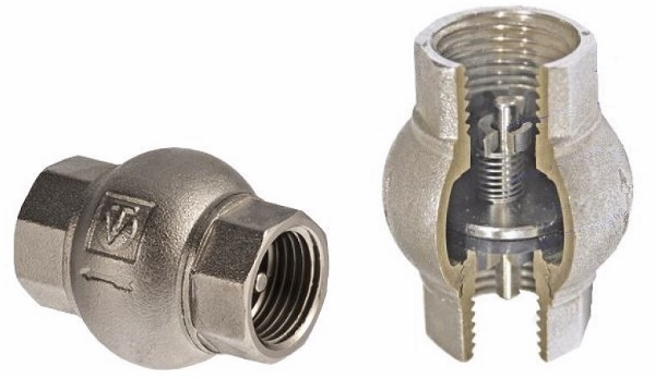 Внешний вид и конструкция обратного клапана