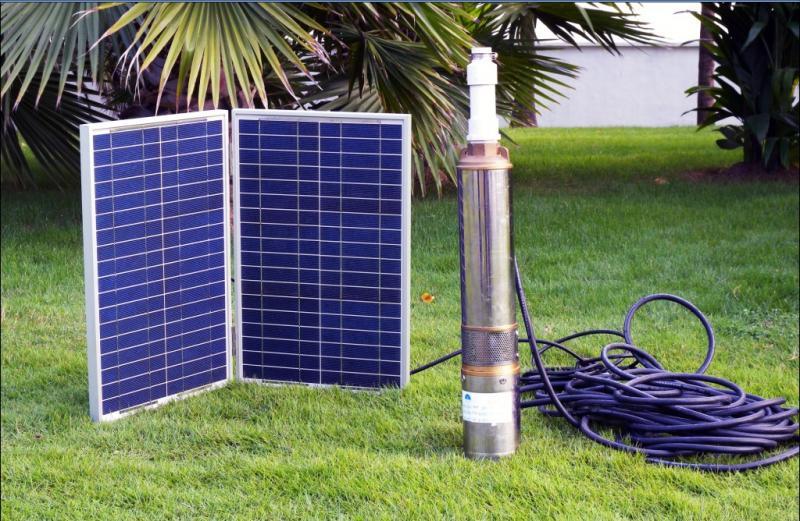 Запитка скважинного насоса от солнечной батареи