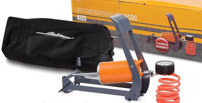 Насос ножной с манометром PA-400-02 AIRLINE