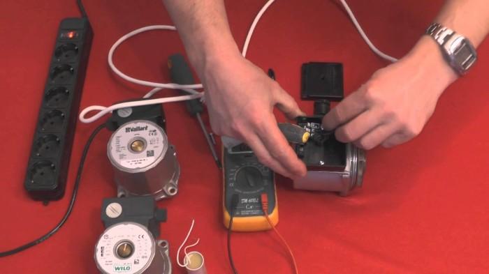 Тестирование и ремонт электрического узла циркуляционного насоса