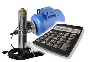 Калькулятор расчета напора скважинного насоса с гидроаккумулятором.