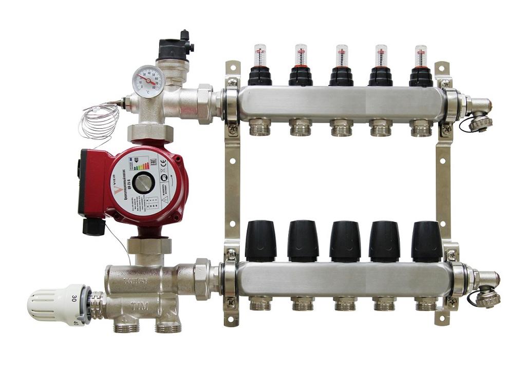 Что такое насос для теплого пола (смесительная группа), зачем он нужен, виды и модели, а также производители, характеристики и установка.