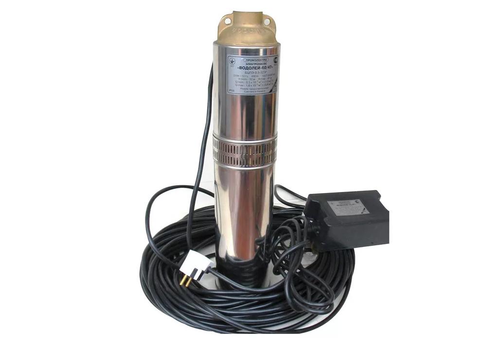 Насос Водолей БЦПЭ - применение, устройство, модельный ряд, параметры насосов Водолей БЦПЭ, а также, выбор, покупка, установка.