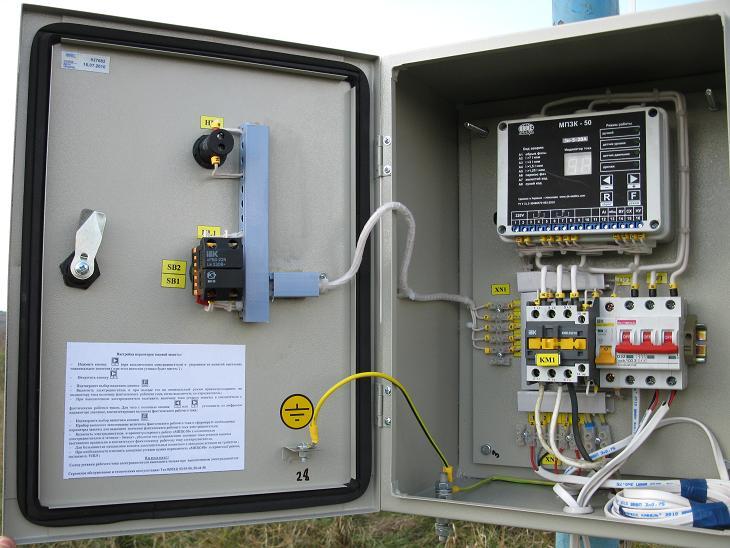 Шкаф управления скважинными насосами Грундфос