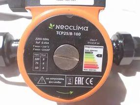 Циркуляционный насос neoclima tcp 25 8 180