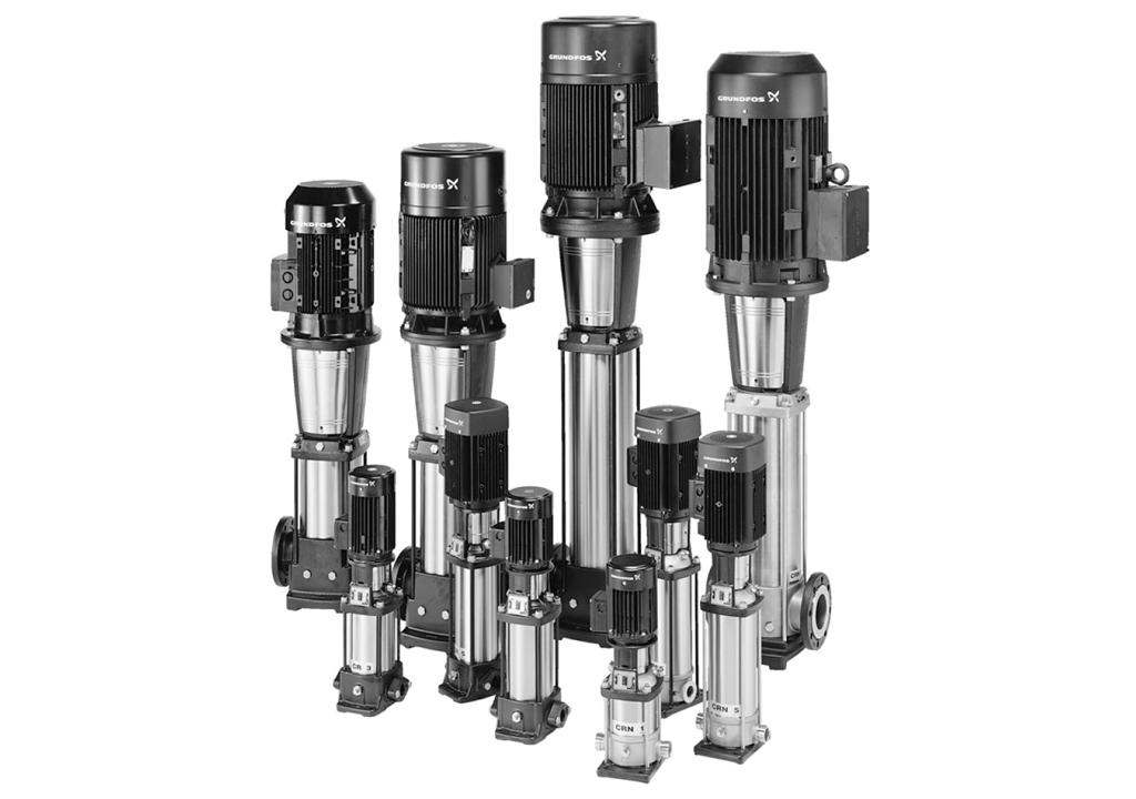 Что такое насосы Grundfos CR (промышленные, центробежные) - область применения, назначение, устройство, модели, параметры насосов Grundfos CR.