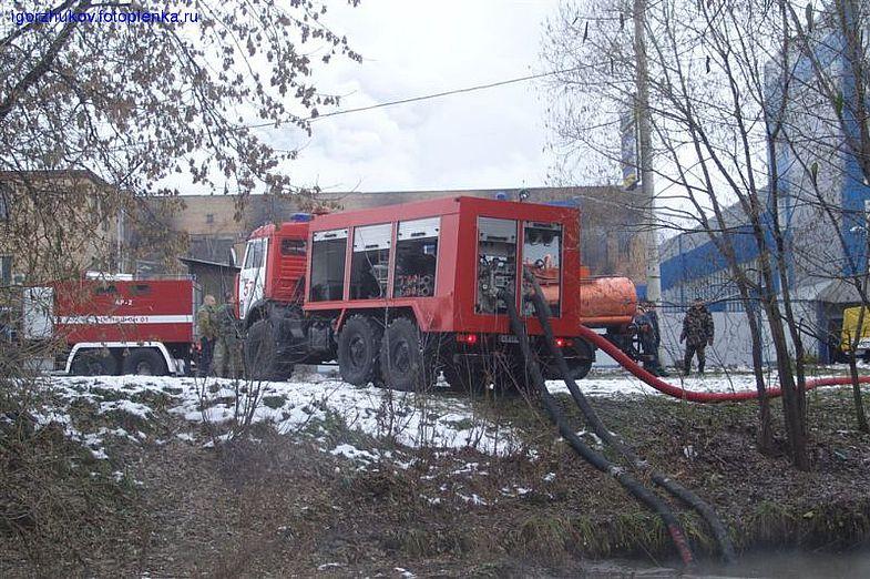 Пожарная насосная станция в работе