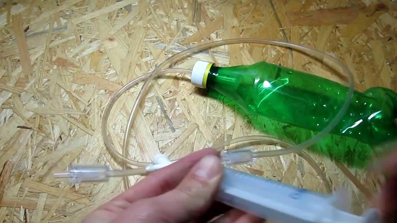 Изготовление вакуумного насоса из шприца