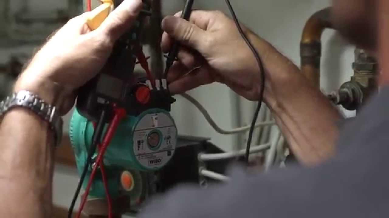 Тестирование электрической коробки насоса