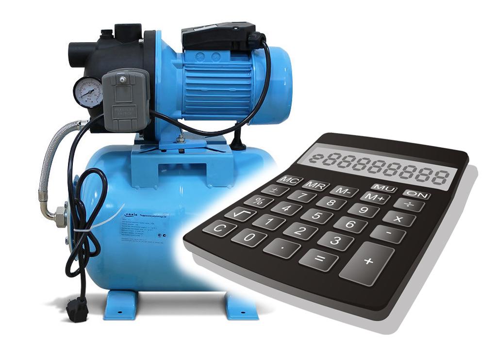 Калькулятор производительности насосной станции с пояснениями.