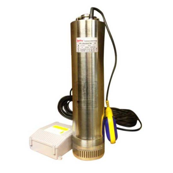 Купить насос колодезный SPm 404-0,75A LadAna мощностью 0,75 кВт с поплавковым выключателем и пультом в магазине насосов nasosovnet.ru