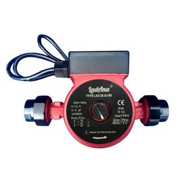 Купить насос циркуляционный LRS 25-6/180 LadAna (0.10 кВт) с кабель 1м, комплект присоединителей, в интернет магазине nasosovnet.ru