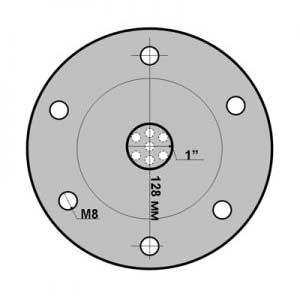 Присоединительные размеры фланца для гидроаккумулятора из нержавеющей стали (360 грамм) - Интернет магазин Насосов nasosovnet.ru