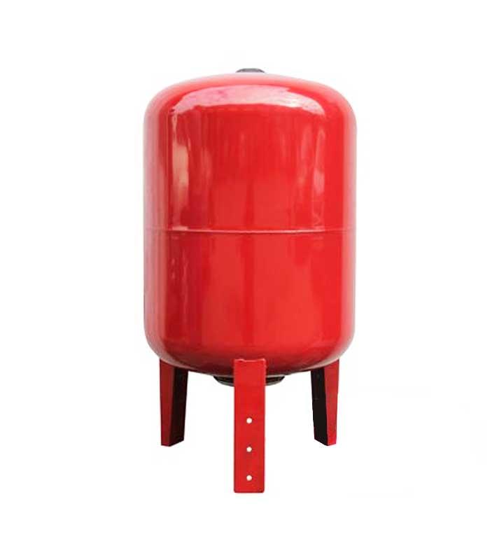 Купить гидроаккумулятор 100 л вертикальный красный LadAna для ГВС (фланец из стали повышенной прочности) в магазине насосов nasosovnet.ru