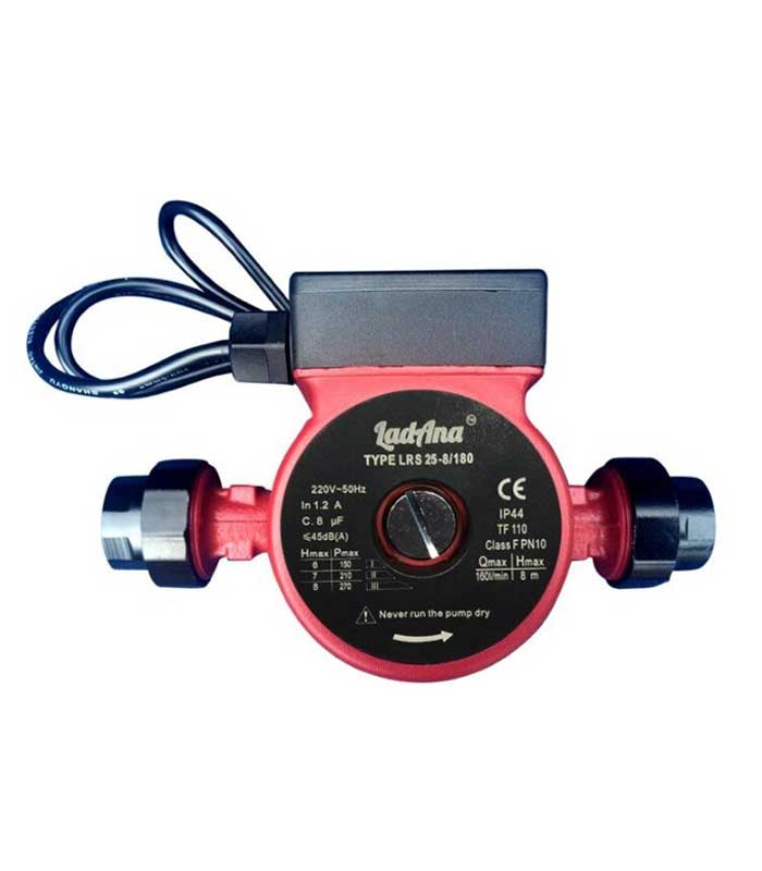 Купить насос циркуляционный LRS 25-8/180 LadAna (0.26 кВт) с кабель 1м, комплект присоединителей, в интернет магазине nasosovnet.ru