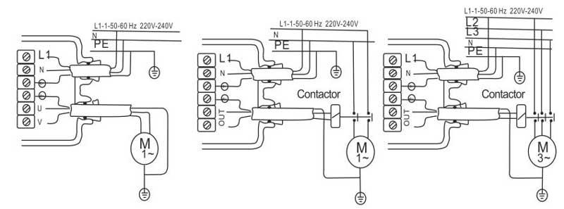 Электрическая схема подсоединения автоматического регулятора давления DSK-1 Ladana.