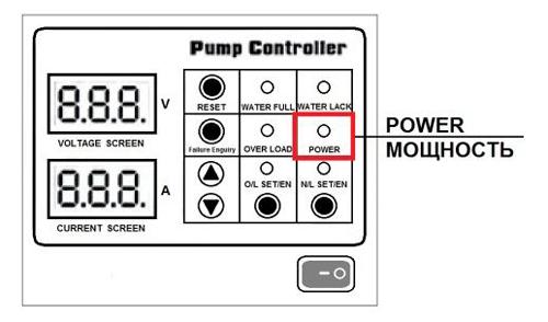 Включение в сеть станции управления насосом модели QK.