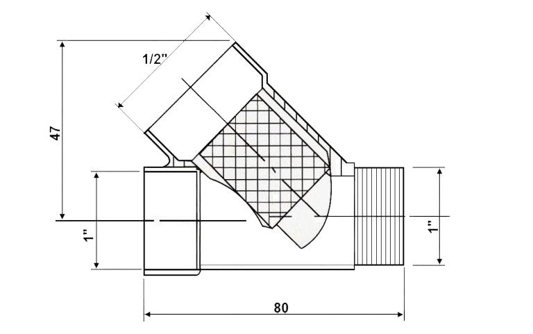 Характеристики тройника для греющего кабеля С-01.
