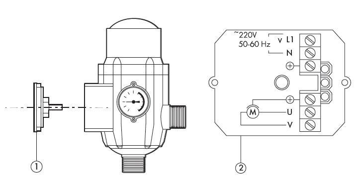 Электрическая схема присоединения блока автоматики Джилекс.