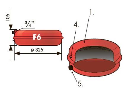 Расширительный бак плоский Джилекс - устройство и размеры