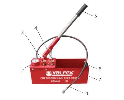 Устройство опрессовочного насоса Valfex VPTM-50.