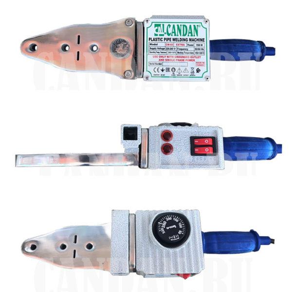Паяльник Candan CM-03 (1500 Вт, комплект, насадки 20, 25, 32, 40, ножницы, рулетка).
