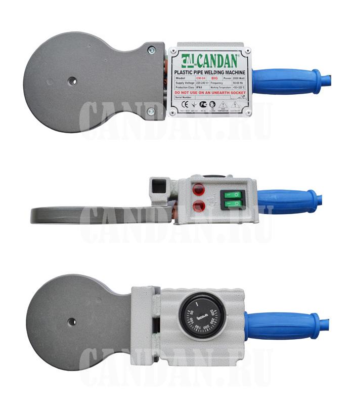Паяльник Candan CM-04 (2000 Вт, комплект, насадки 50, 63, 75).