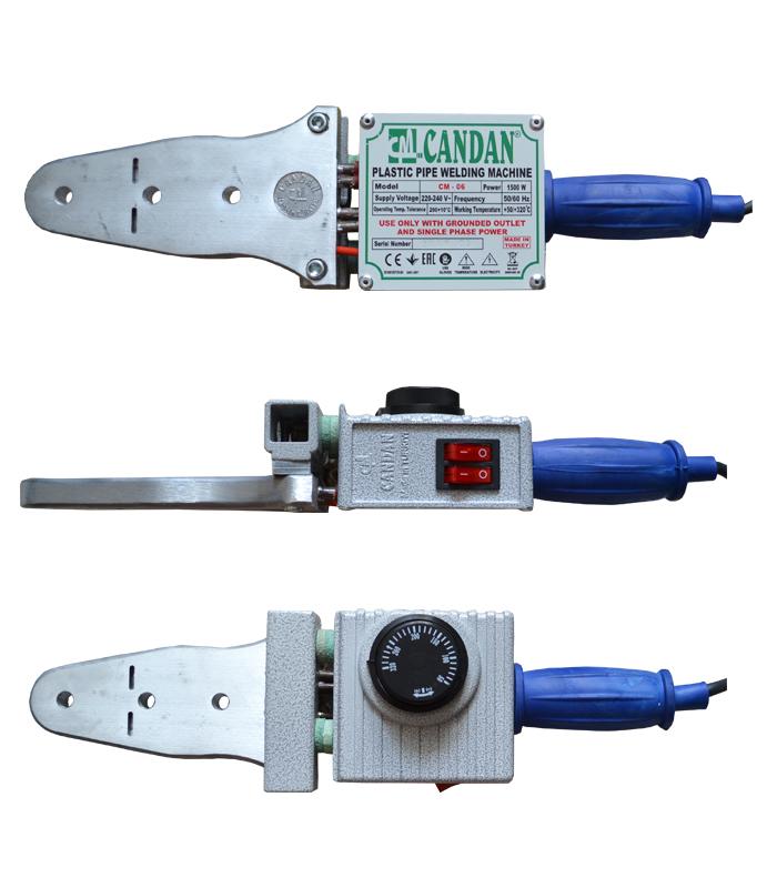 Паяльник Candan CM-06 (1500 Вт, комплект, насадки 20, 25, 32, 40, ножницы, рулетка).
