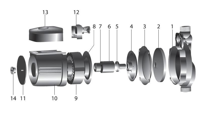 Устройство повысительного насоса VALFEX VPA 15-90 G.