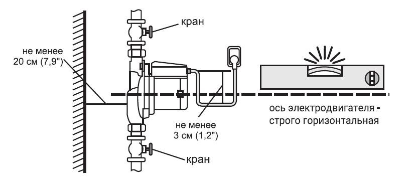 Пример установки насоса повышающего давление.